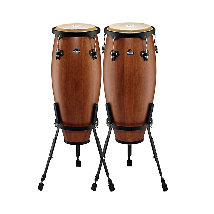 Nino Wood Congas Set Walnut Brown 9 & 10 in.