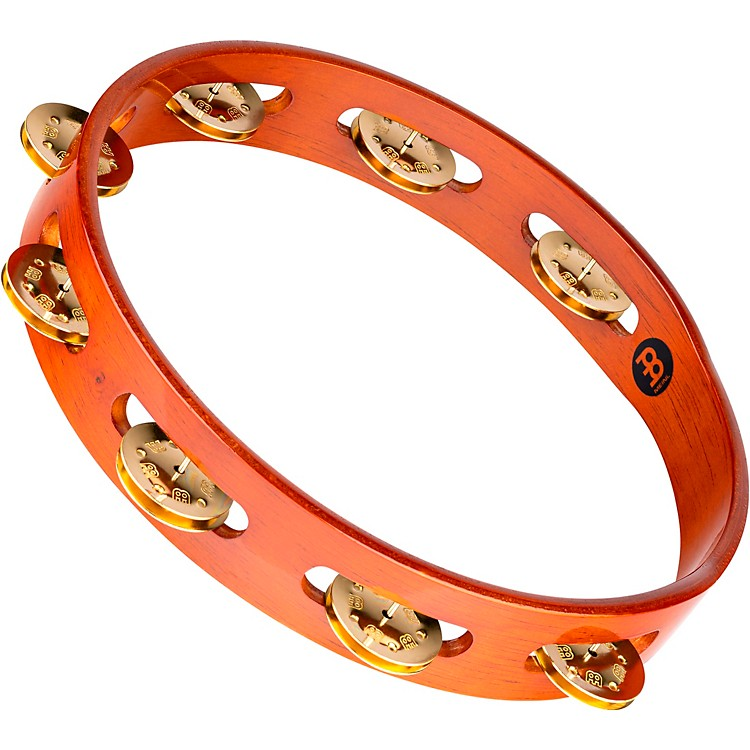Meinl Wood Tambourine One Row Brass Jingles