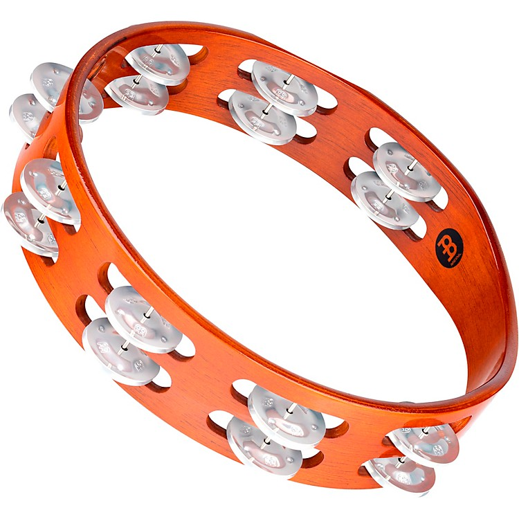 Meinl Wood Tambourine Two Rows Brass Jingles