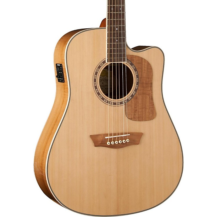 Washburn Woodcraft Series WCSD52SCE Dreadnought Acoustic-Electric Guitar Natural