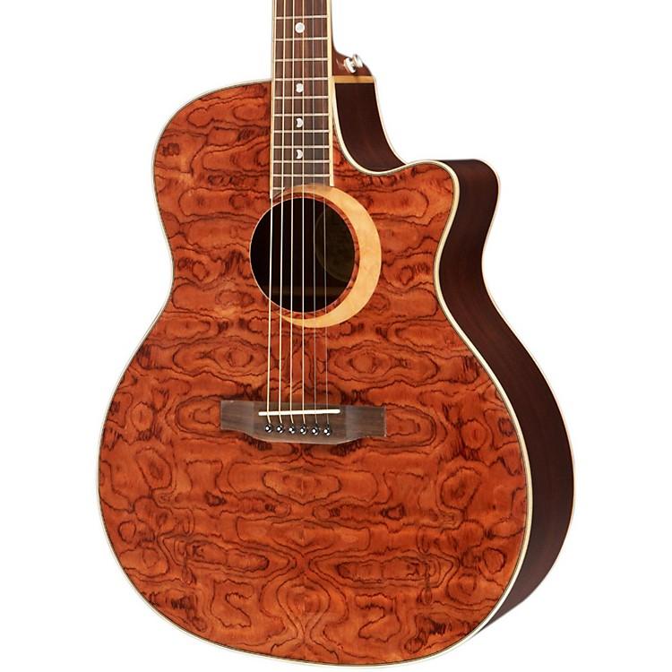 Luna GuitarsWoodland Series Bubinga Cutaway Acoustic-Electric GuitarNaturalBubinga