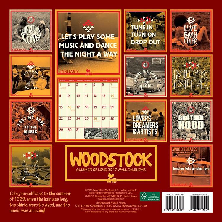 Browntrout PublishingWoodstock 2017 12x12 NMR Calendar