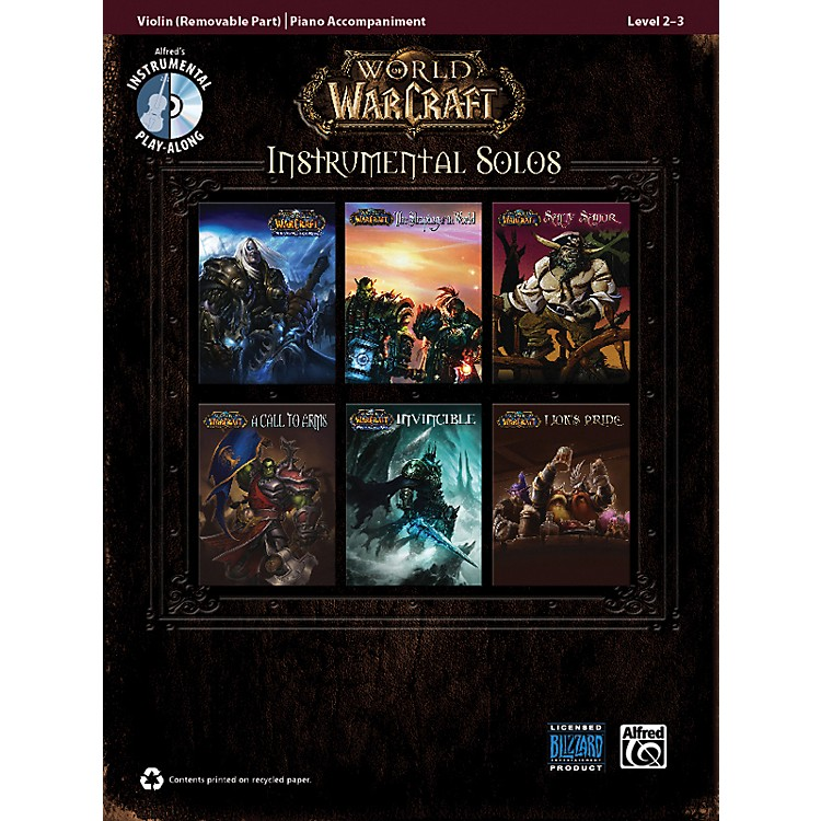 Alfred World of Warcraft Instrumental Solos for Strings Violin Book & CD