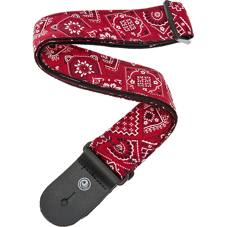 Planet Waves Woven Bandana Cotton Guitar Strap Bandana Red