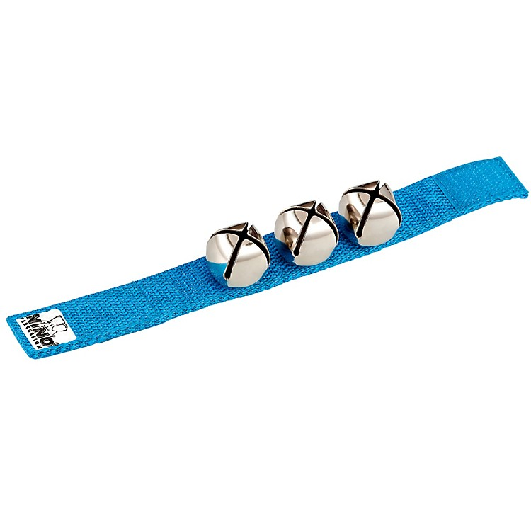Nino Wrist Bells Strap with 3 Bells Blue 9 in.