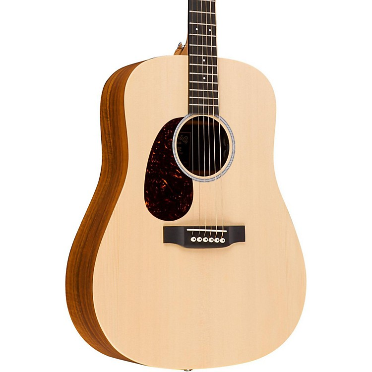 Martin X Series 2016 DX1KAE-L Dreadnought Left-Handed Acoustic-Electric Guitar Natural