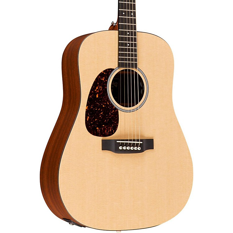 Martin X Series 2016 DXMAE-L Dreadnought Left-Handed Acoustic-Electric Guitar Natural
