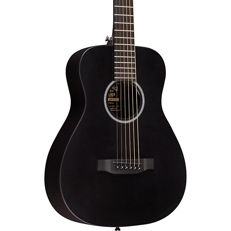 Martin X Series 2016 LX Little Martin Left-Handed Acoustic Guitar Black