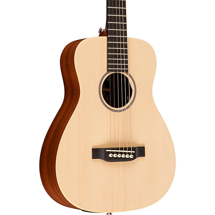 Martin X Series 2016 LX1E Little Martin Left-Handed Acoustic-Electric Guitar Natural