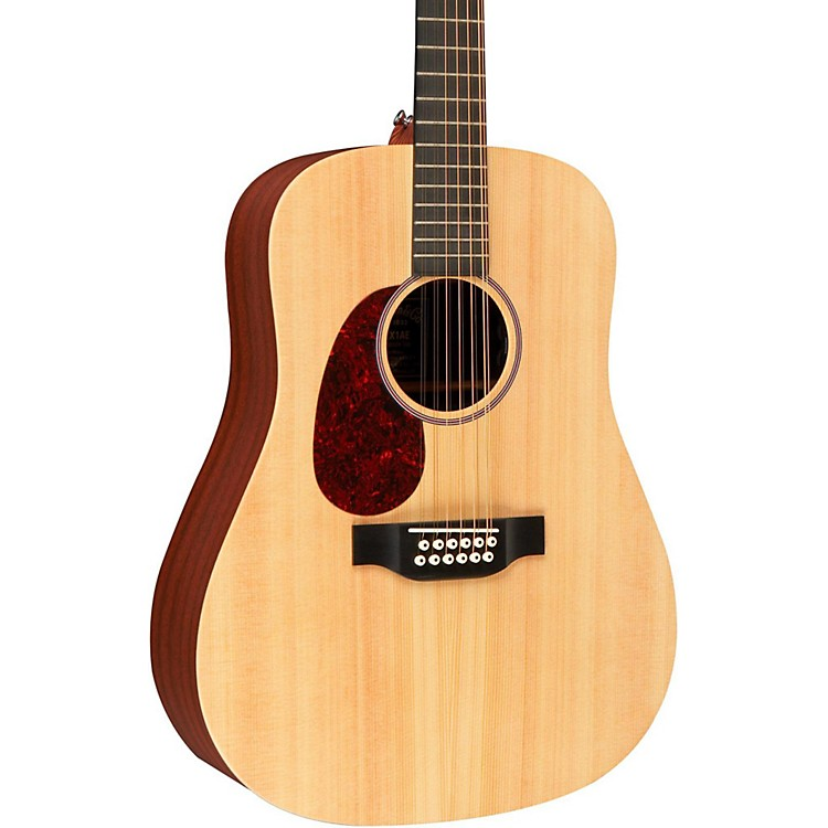 MartinX Series D12X1AE Left-Handed Acoustic-Electric GuitarNatural