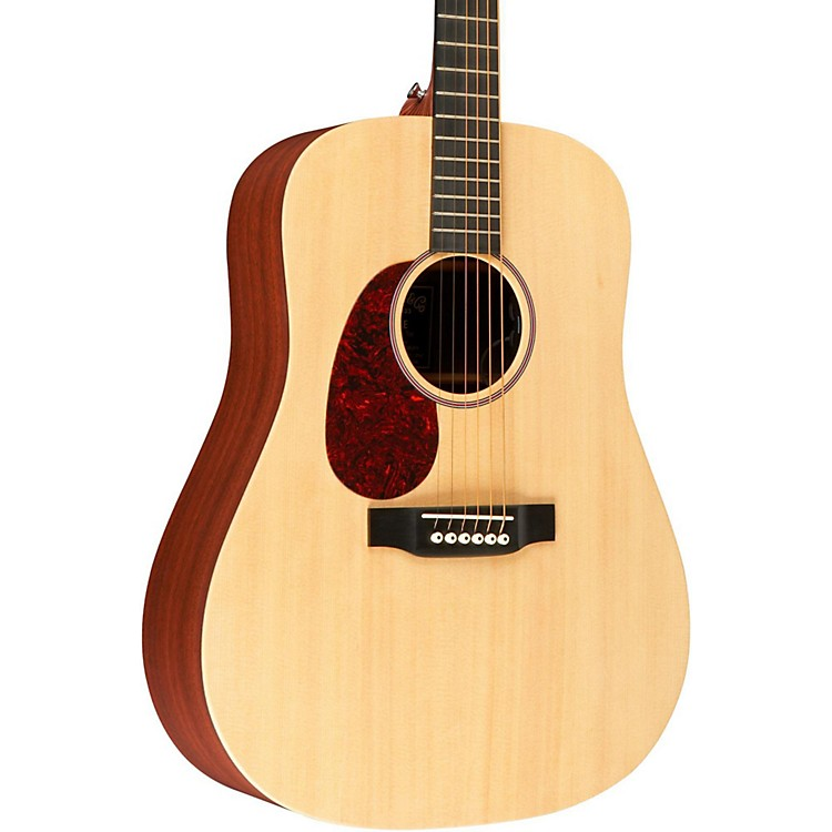 MartinX Series DX1AE Left-Handed Dreadnought Acoustic-Electric GuitarNatural
