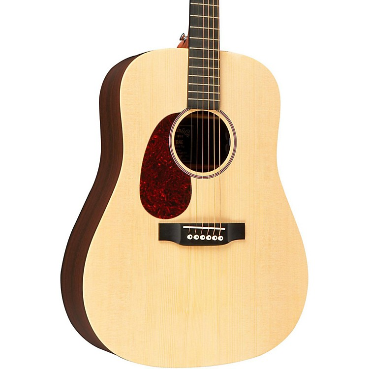 MartinX Series DX1RAE Left-Handed Acoustic-Electric GuitarNatural
