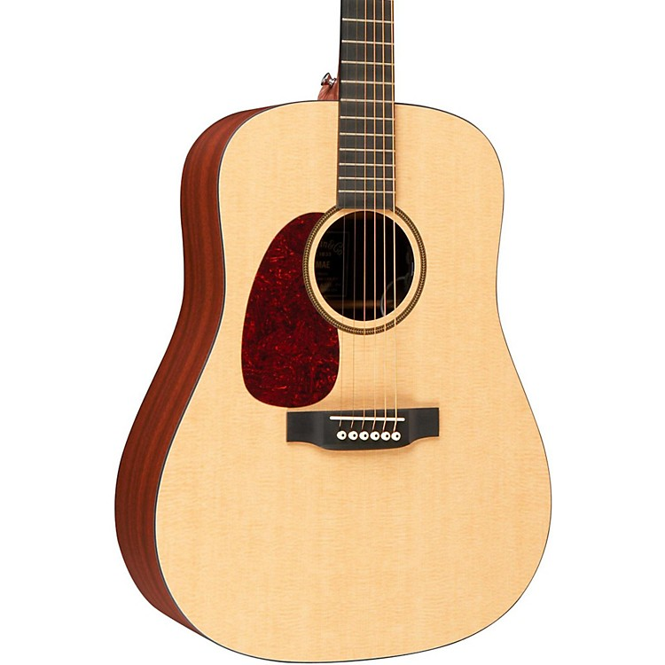 Martin X Series DXMAE Left-Handed Acoustic-Electric Guitar Natural