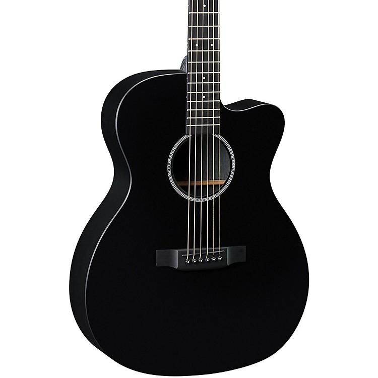 MartinX Series OMCXAE Black Orchestra Model Acoustic-Electric GuitarBlack