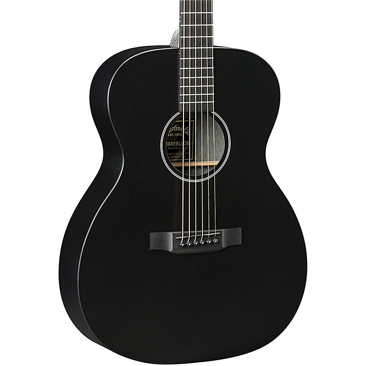 Martin X Series OMXAE Orchestra Model Acoustic-Electric Guitar Black