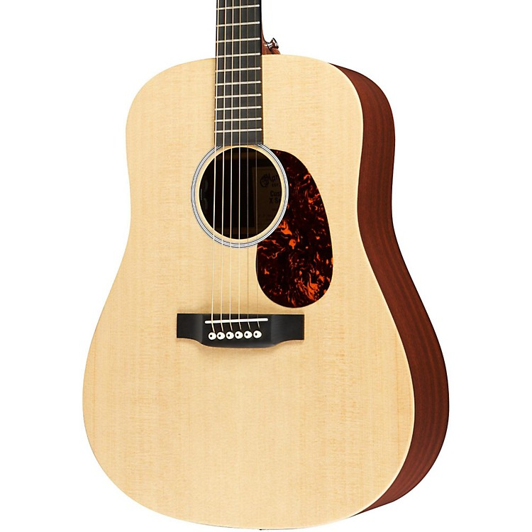 Martin X1-DE Custom Dreadnought Acoustic-Electric Solid Spruce Top HPL Back & Sides Natural Solid Sitka Spruce Top