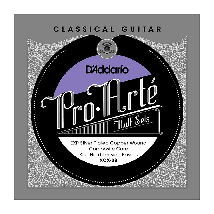 D'Addario XCX-3B Pro-Arte Extra Hard Tension Classical Guitar Strings Half Set