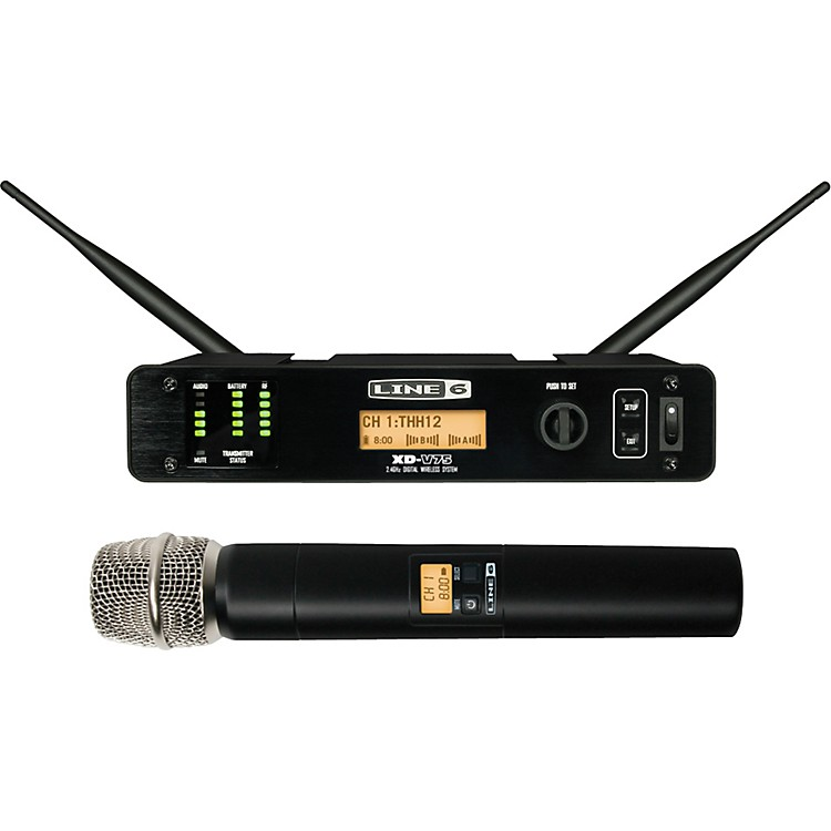 Line 6 XD-V75  Professional Digital Wireless Handheld Microphone System Black