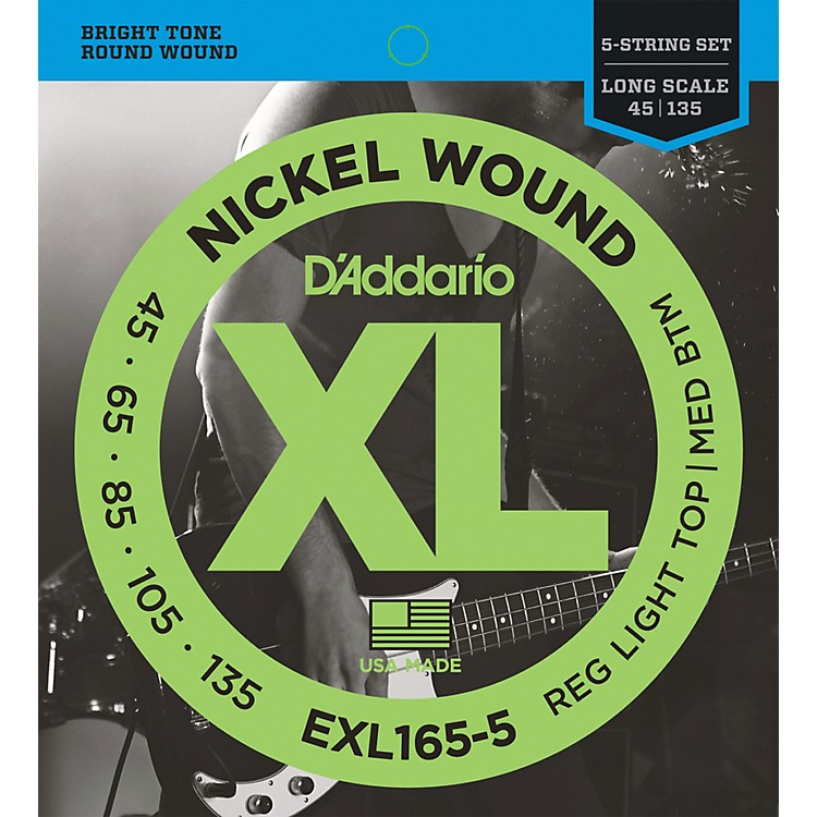 D'AddarioXL165-5 - Electric 5-String Bass Guitar Strings