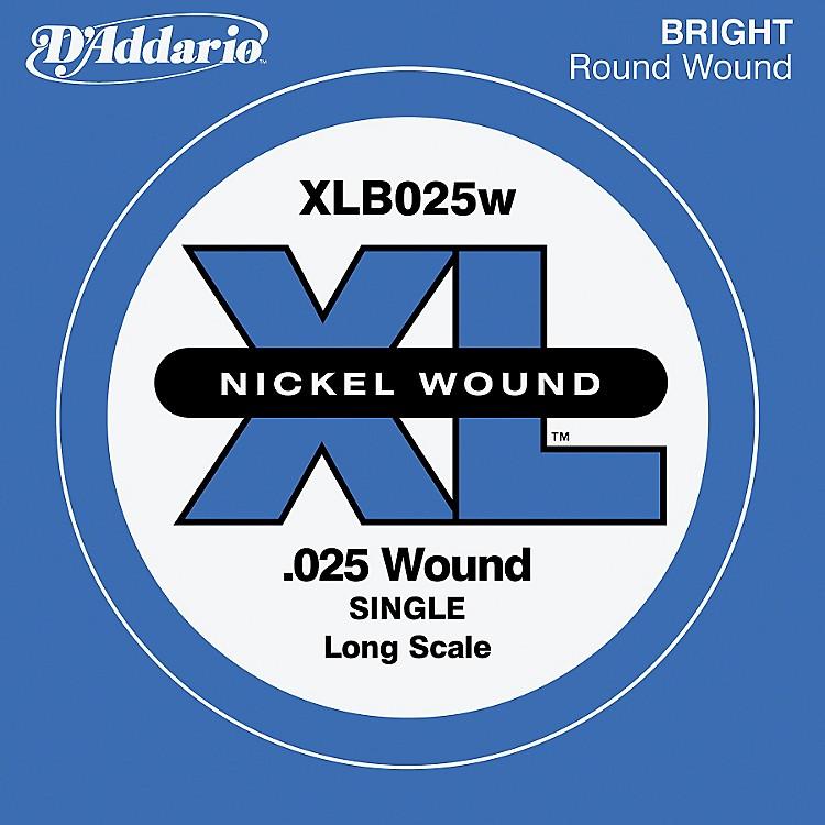 D'AddarioXLB025W XL Nickel Wound Long Scale .025 Electric Bass String