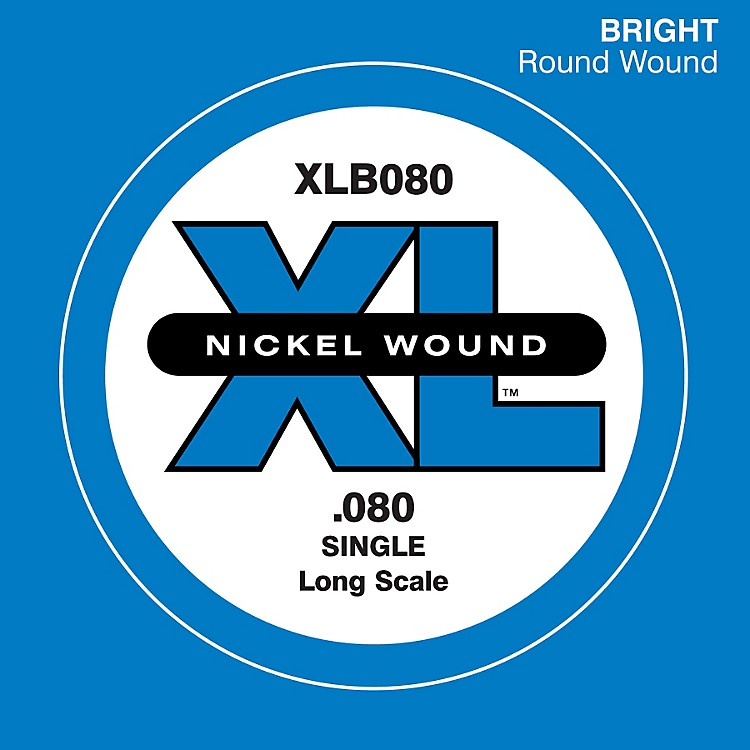 D'Addario XLB080 Nickel Wound Electric Bass Single String