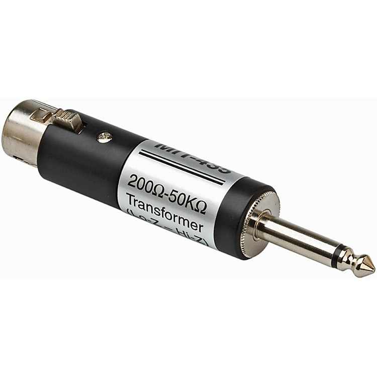 Hosa XLR Female LO-Z to 1/4in TS Male HI-Z Microphone Input Impedance Transformer