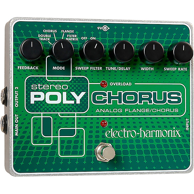 Electro-HarmonixXO Stereo Polychorus Analog Flanger and Chorus Guitar Effects Pedal