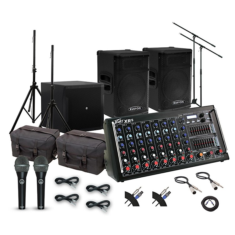 PeaveyXR-S Mixer with Kustom KPX115 and Mackie iP18S Subwoofer PA System