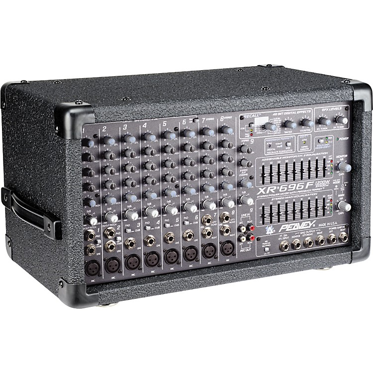 Peavey XR696F 2 x 600W 8-Channel Powered Mixer