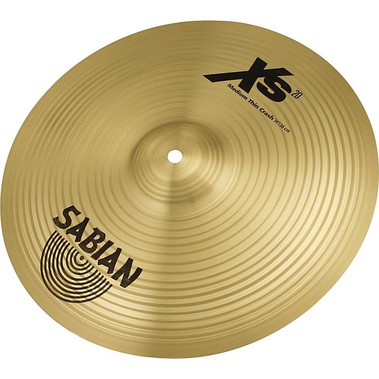SabianXS20 Medium Thin Crash Cymbal, Brilliant