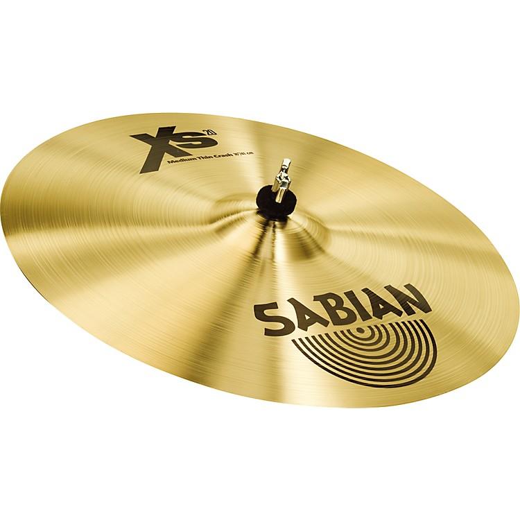 SabianXS20 Medium Thin Crash Cymbal, Brilliant16 in.