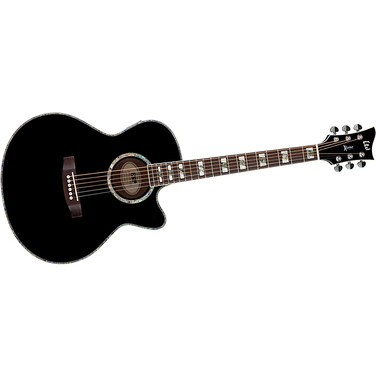 ESP XTONE AC-10E Acoustic-Electric Guitar Black