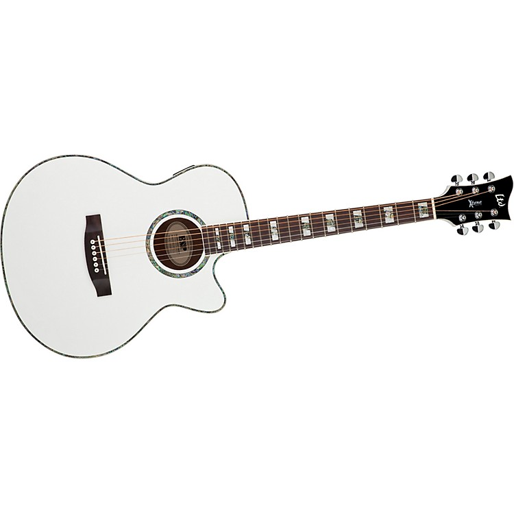 ESP XTONE AC-10E Acoustic-Electric Guitar Pearl White