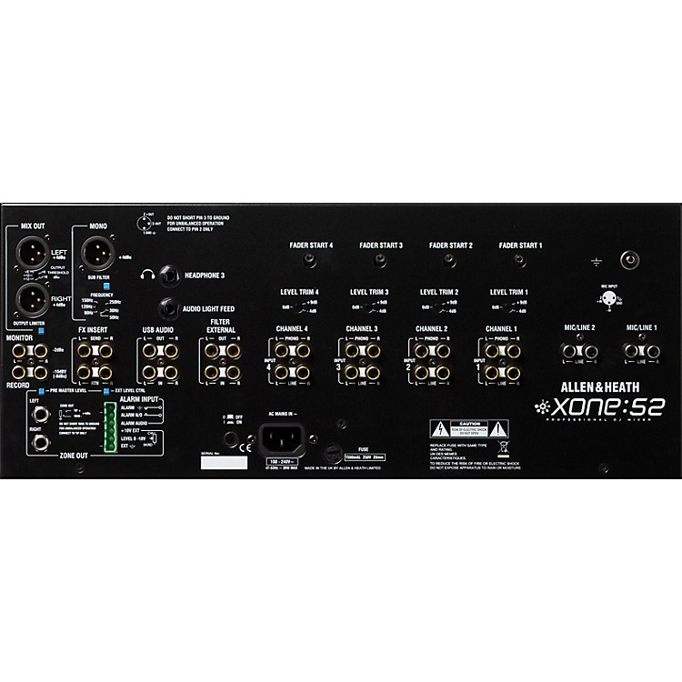 Allen & Heath Xone:S2 Installation/DJ Mixer (Linear Faders)