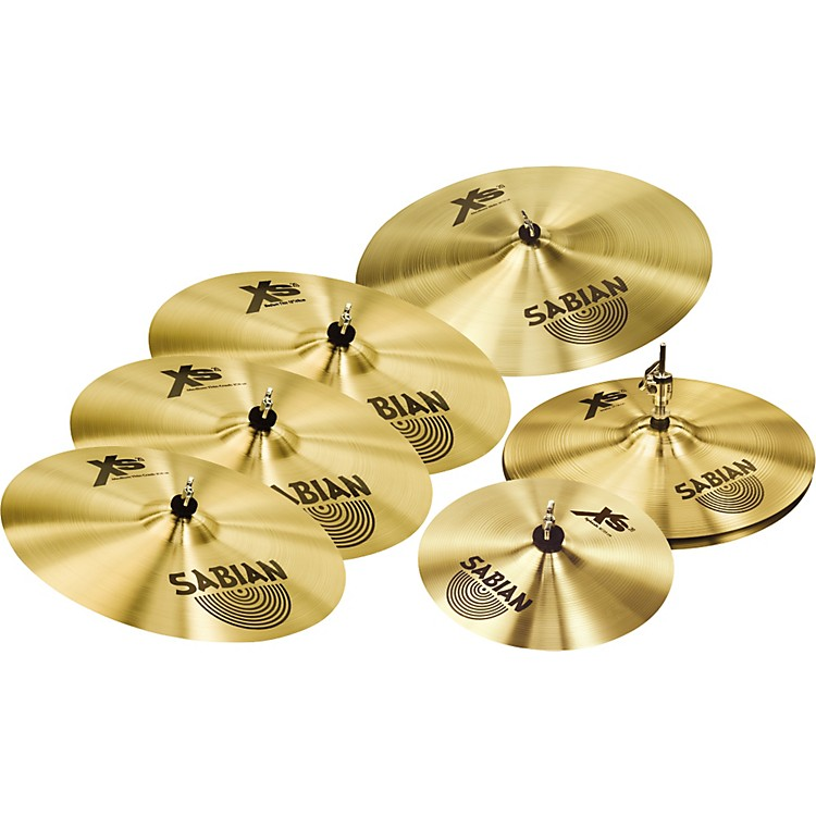sabian xs20 cymbals super set with free 10 splash 18 crash music123. Black Bedroom Furniture Sets. Home Design Ideas