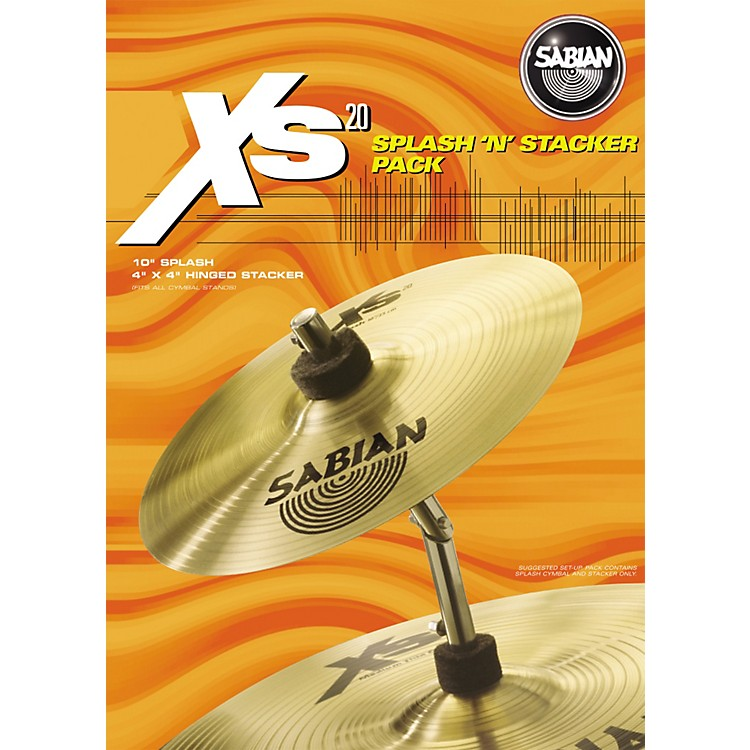 Sabian Xs20 Splash 'N' Stacker Cymbal Pack 10
