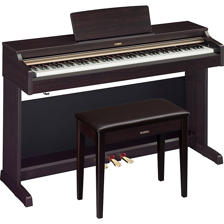 Yamaha YDP-162 88-Key Arius Digital Piano with Bench Dark Rosewood
