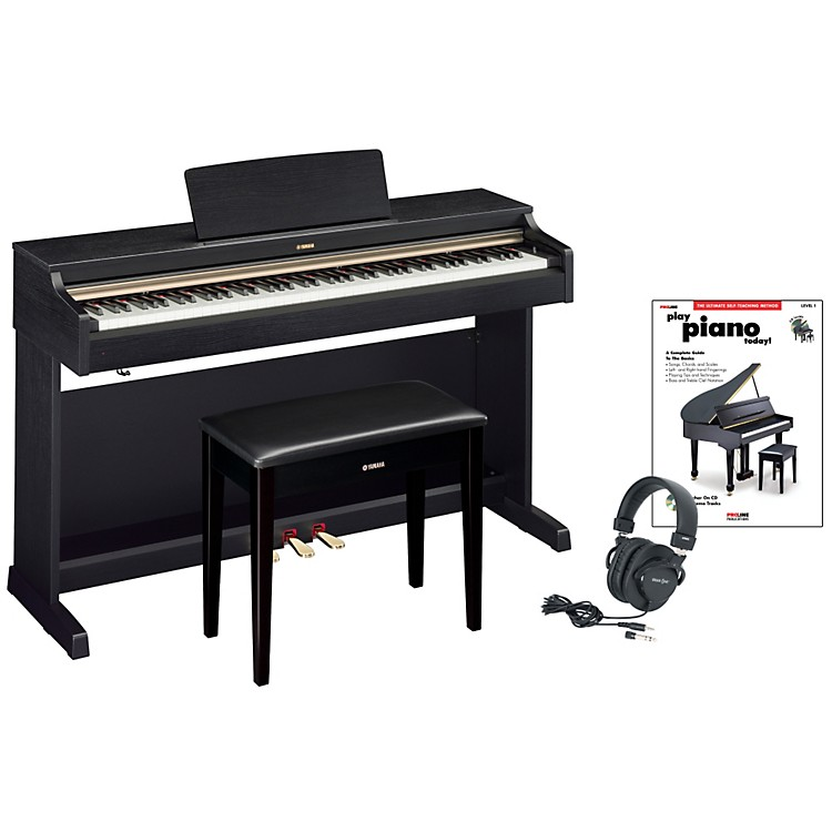 yamaha ydp 162 digital piano package 2 music123. Black Bedroom Furniture Sets. Home Design Ideas