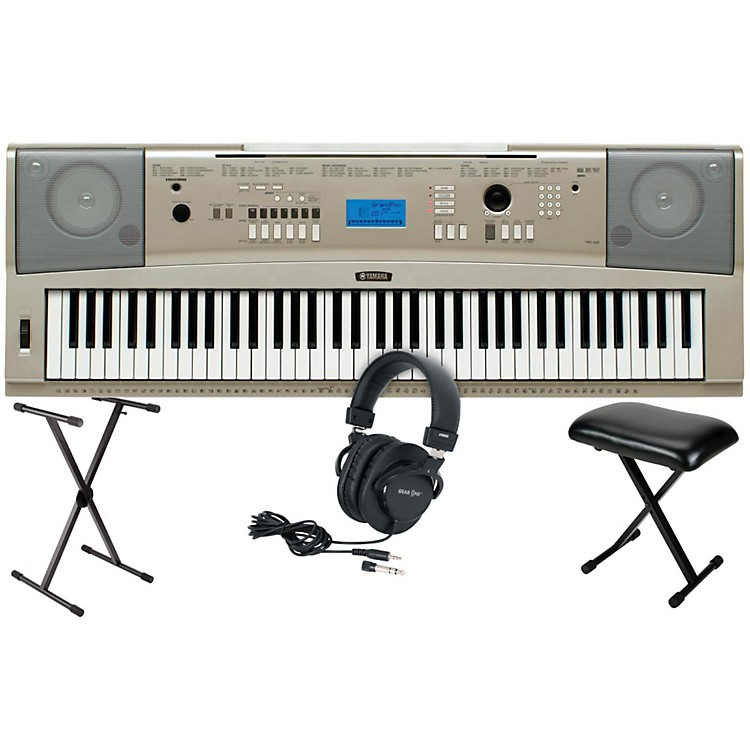 Yamaha YPG-235 76-Key Portable Grand Piano Keyboard with Stand, Bench & Headphones