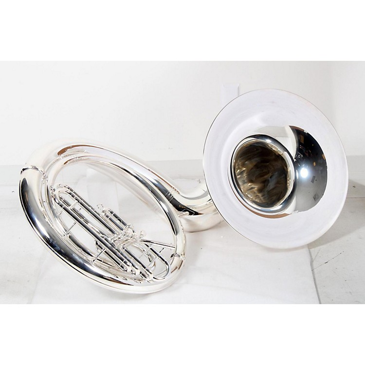 Yamaha YSH-411 Series Brass BBb Sousaphone Ysh411S Silver- Instrument Only 889406239845