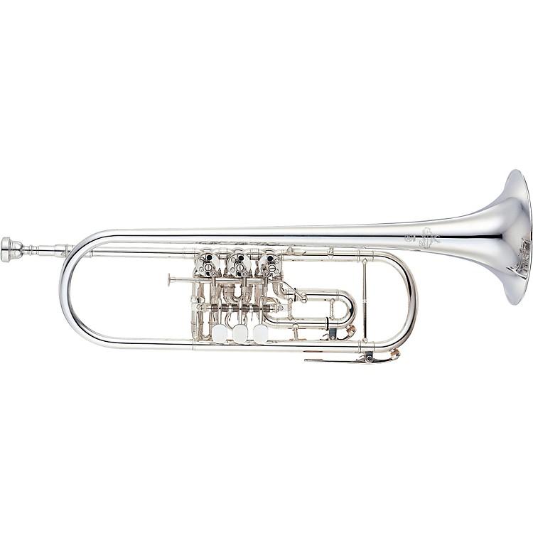 YamahaYTR-938FFMS Custom Series Rotary Bb TrumpetSilver