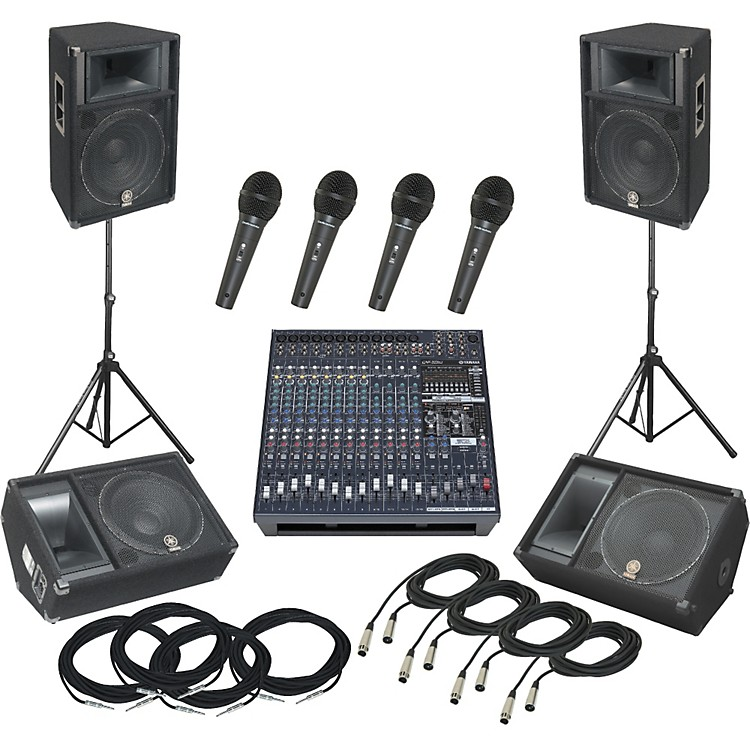 Yamaha Yamaha EMX5016CF / S115V PA Package with Monitors