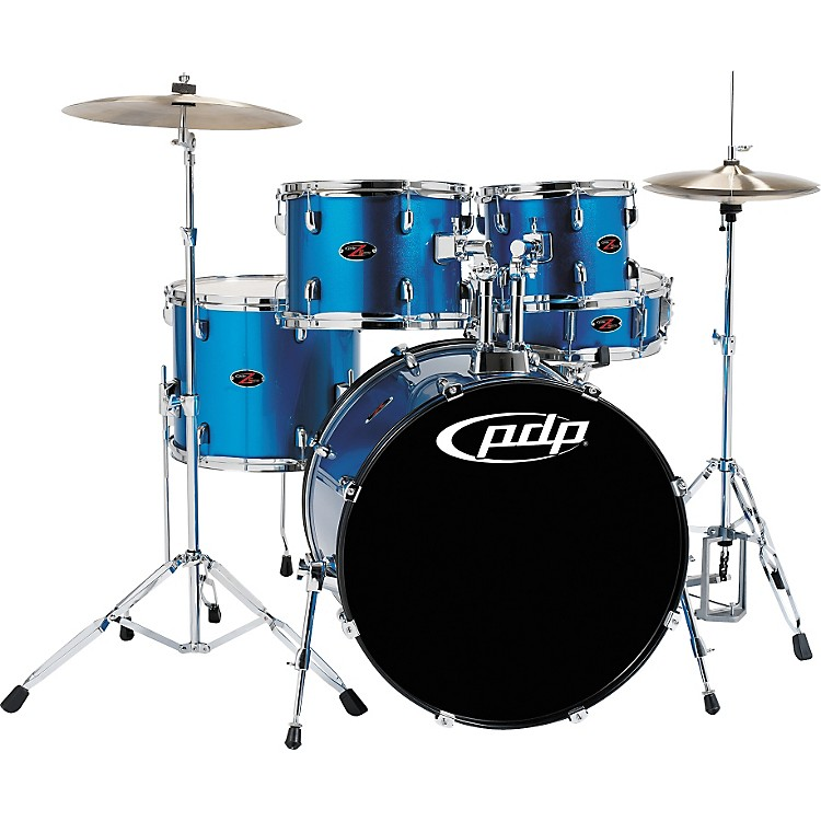 PDP Z5 5-Piece Drum Set Aqua Blue