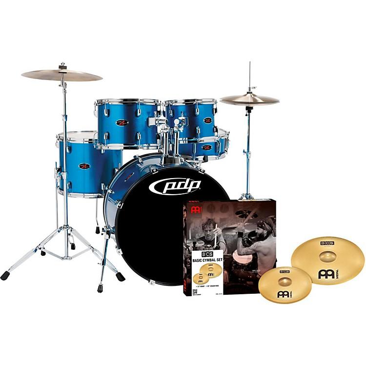 PDPZ5 5-Piece Drumset with Meinl CymbalsAqua Blue