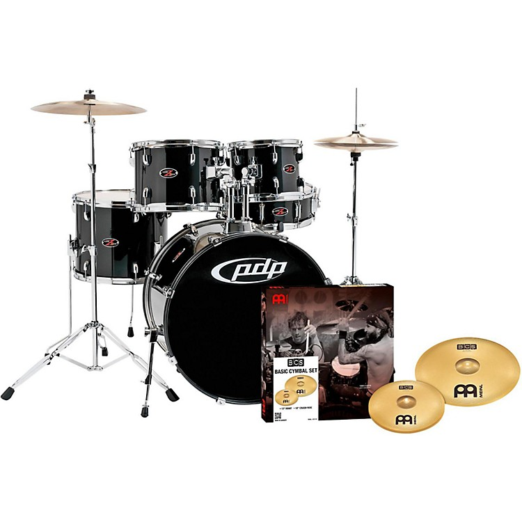PDP Z5 5-Piece Drumset with Meinl Cymbals Carbon Black