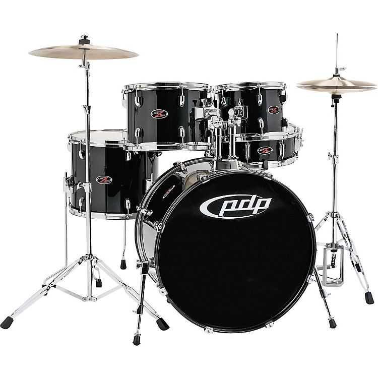 PDP Z5 Complete Drum Set with Hardware & Cymbals Carbon Black