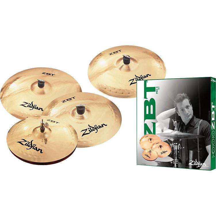 ZildjianZBT 4 Pro Cymbal Pack with Free 18