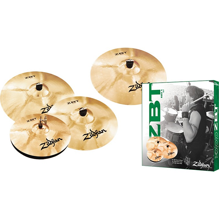 Zildjian ZBT 4 Rock Cymbal Pack with Free 18