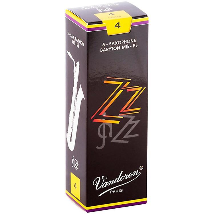 VandorenZZ Baritone Saxophone ReedsStrength 4, Box of 5