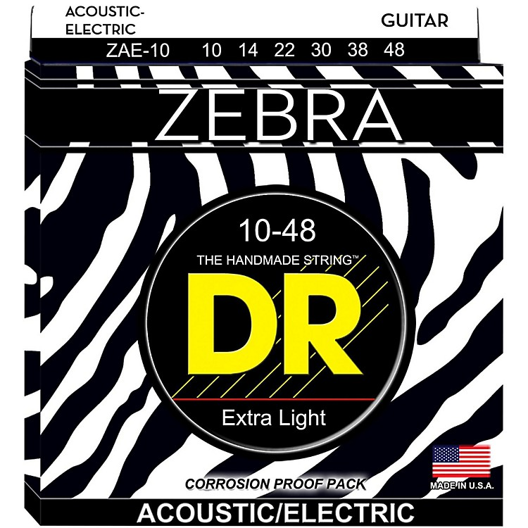 DR Strings Zebra Lite Acoustic-Electric Guitar Strings